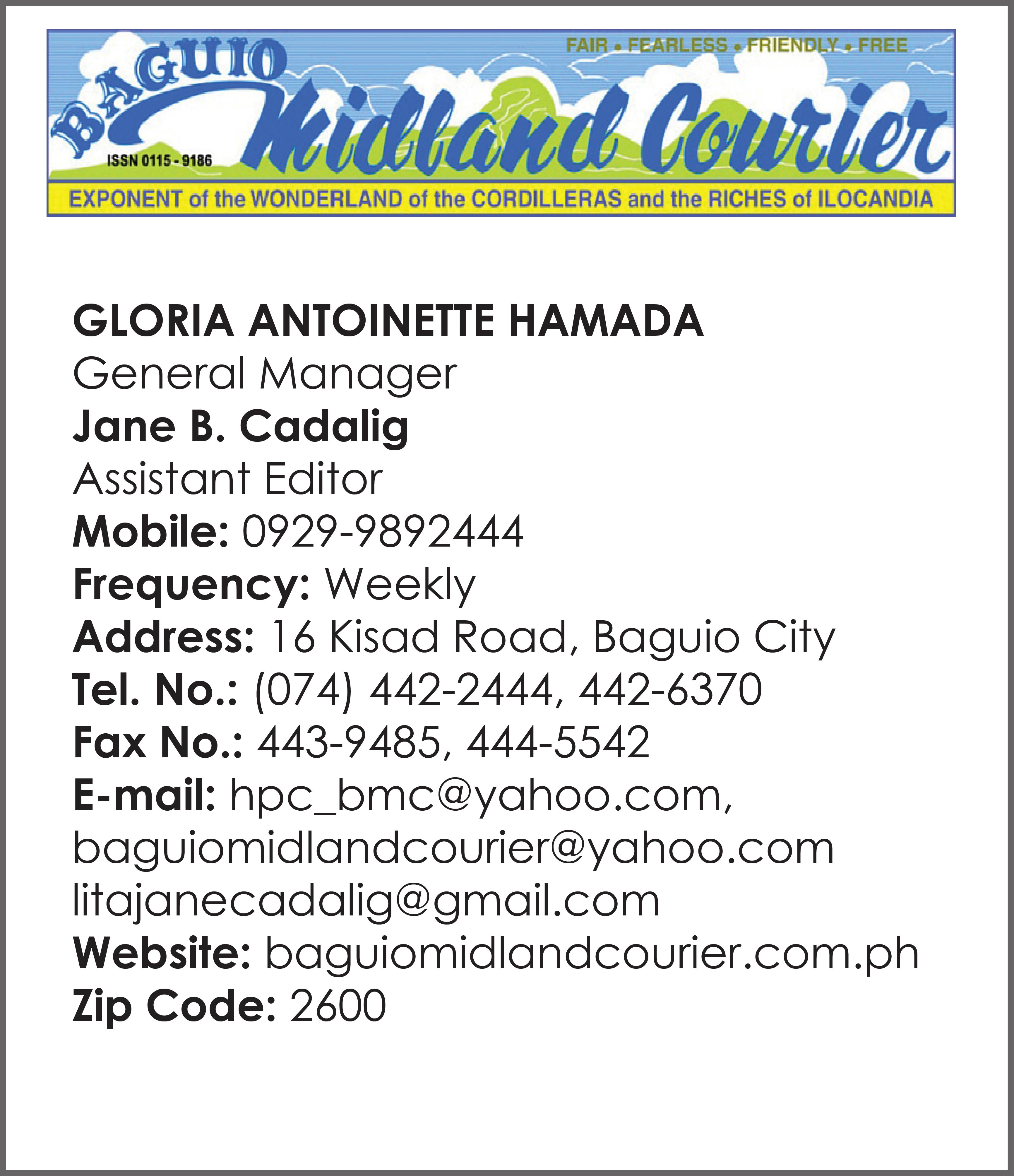 Baguio Midland Courier_PPI Member's Data