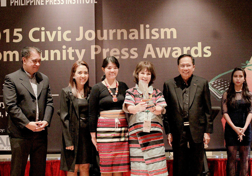 Winners of the 2015 Civic Journalism Awards, given out by the Philippine Press Institute during the 20th National Press Forum.